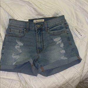 pacsun denim shorts